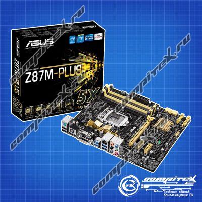 Материнская плата ASUS Z87M-PLUS (LGA1150, micro-ATX)