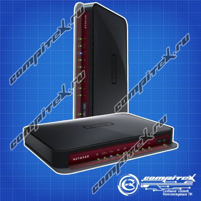 WiFi роутер (маршрутизатор) NETGEAR WNDR3800-100RUS 802.11n/2.4GHz-5GHz/4xLAN/1xWAN/USB/600 Mbps