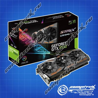 Видеокарта ASUS GeForce GTX 1060 PCI-E 3.0 6144Mb 8208Mhz 192 bit (ROG STRIX-GTX1060-O6G-GAMING)
