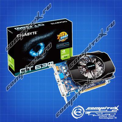 Видеокарта GIGABYTE GeForce GT 630, 2Гб, 128Бит, DDR3, OEM [GV-N630-2GI]